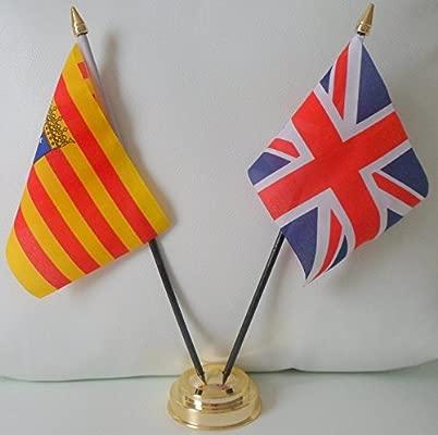 Aragón británica de la bandera de España español 2 mesa de la ...