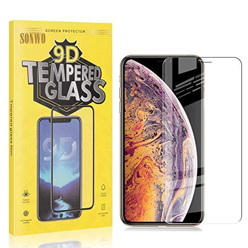 1 Stück Displayschutzfolie Kompatibel mit iPhone 11 Pro Max/iPhone XS Max, SONWO Panzerglas Schutzfolie für iPhone...