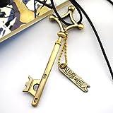 CoolChange Collier Attaque des Titans avec clé métallique