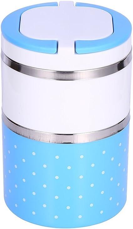 900ml Fiambrera Termo t/érmica con Aislamiento de Acero Inoxidable Contenedor de Alimentos Caliente Rosa yuyte 2 Capas Fiambrera de Aislamiento