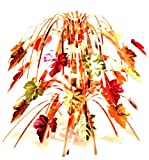 thanksgiving table centerpieces Creative Converting Fall Leaves Mini Foil Cascade Centerpiece