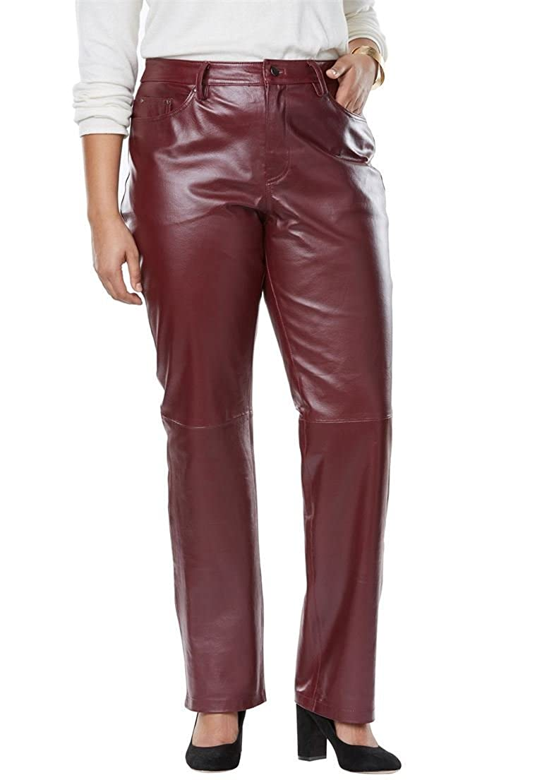Jessica London Women's Plus Size Leather Pants