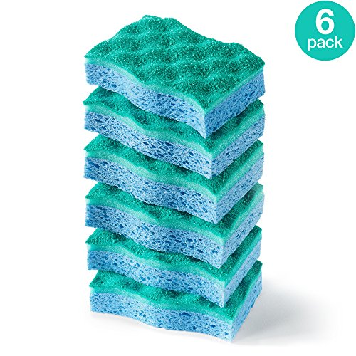 O-Cedar Multi-Use Scrunge Scrub Sponge (Pack of 6) - Dish Scrub