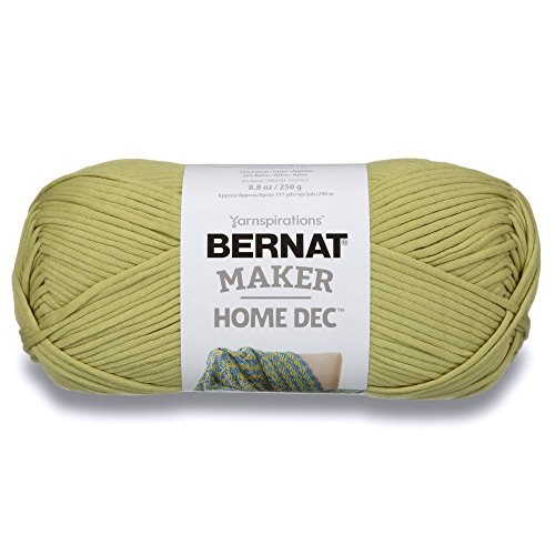 Bernat Maker Home Dec Yarn, 8.8oz, Guage 5 Bulky Chunky, Green Pea