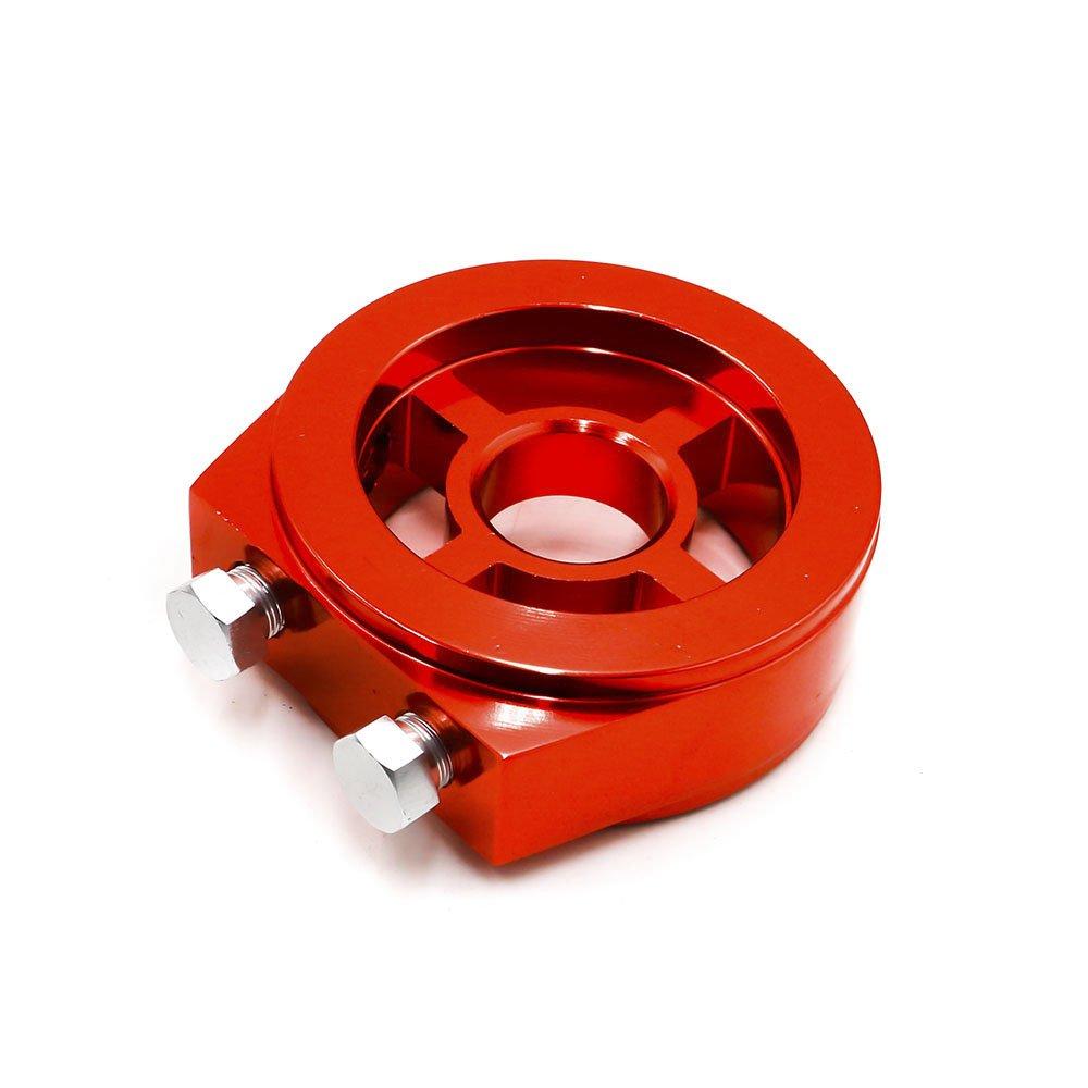 CNSPEED medidor de presi/ón de aceite 3 en 1 con adaptador de filtro de aceite para s/ándwiches Medidor de temperatura de aceite de 52 mm con triple volt/ímetro