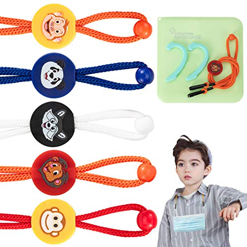 5 Pack – Mask Lanyard for Kids,Cute Adjustable Length Mask Lanyard with Clip,Mask Lanyard Strap for Child,Comfortable…