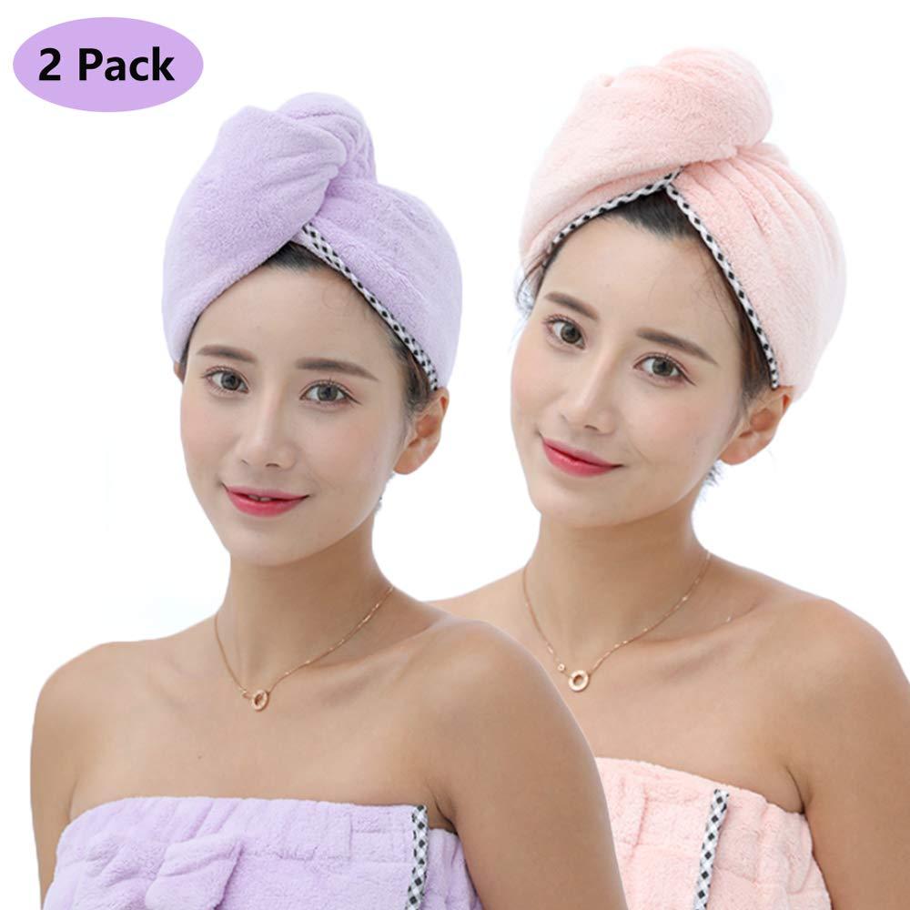 Yibaision Microfiber Long Hair Towels Turban