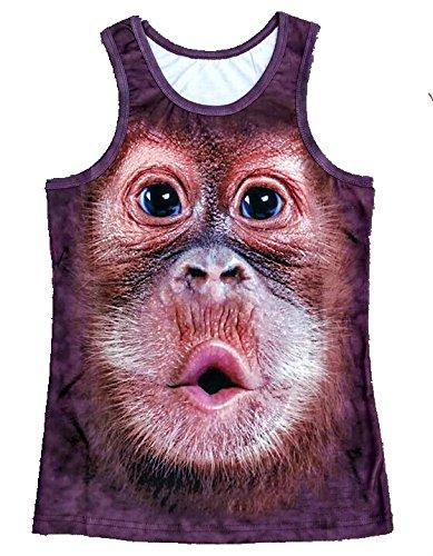 xing lin Beach Shorts Big Pants Animal Animal Beach Shorts Panda Robe Funny Europe and The United States Pattern Men and Women Quick-Drying Shorts Summer, 2XL, Dark Green Sleeveless T-Shirt ()