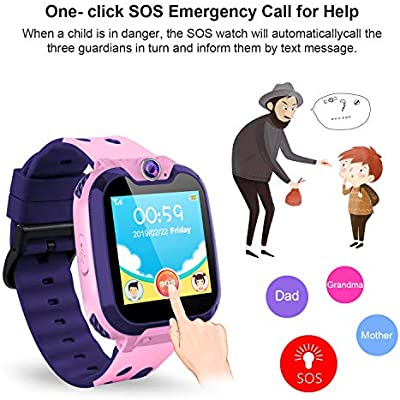 Vannico Smartwatch Niños, Relojes Inteligentes La Musica Smartwatch Niño No GPS con 7 Juegos De Cámara De Teléfono 3-12 Años De Edad Regalo De ...