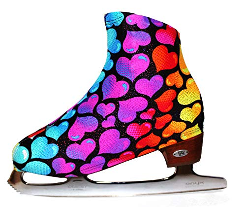 (Ice Skate Boot Covers (Colorful Hearts))