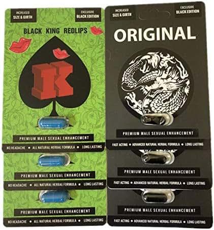 Big K Redlips Red Lips Black Original White Dragon Enhancement Pills Bundle (Bundle)