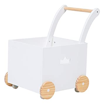 Amazon.com: Crown niños 2 en 1 blanco de madera Baby ...