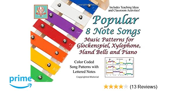 Popular 8 Note Songs Music Patterns For Glockenspiel Xylophone