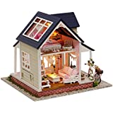 Kisoy Romantic and Cute Dollhouse Miniature DIY House Kit Creative Room Perfect DIY Gift for Friends, Lovers and Families (Cycling Angel) Plus Dust Proof Cover