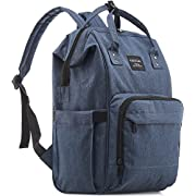 KiddyCare Diaper Bag Backpack - Multi-Function Waterproof Maternity Nappy Bags for Travel with Baby - Large Capacity, Durable and Stylish, Dark Blue