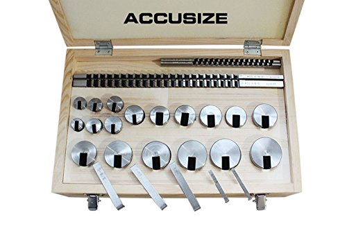 Accusize - 22 Ps/Set No.10-10A Conbination HSS Keyway Broach Sets in Fitted Box, #5100-0012