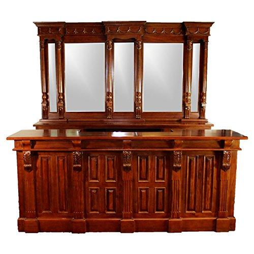 Mahogany Victorian Cabinet - 8' Antique Replica Mahogany Victorian Front & Back Home Bar Sale Item