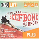 LonoLife Beef Bone Broth 10g Protein - 4 Count - For your Keurig® Style Brewer