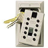 Kidde 001371C Push Button Combo 2-Key Lock Box, Clay