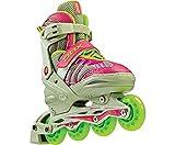 DBX Girls' Equinox Adjustable Inline Skate Package, Berry (LARGE)