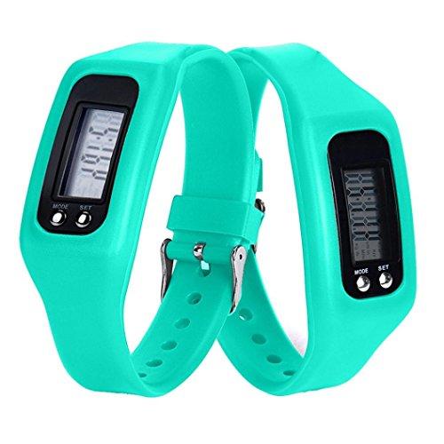 Kanzd New Sports Digital LCD pedometer Run Step Walking Distance calorie Counter Watch Bracelet (H)