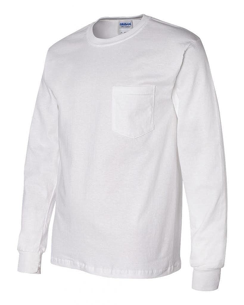 4e8f82f44b8 Gildan - Ultra Cotton Long Sleeve T-Shirt with a Pocket - 2410 ...
