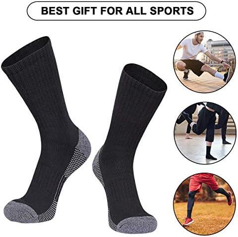 COOVAN 12 Pack Crew Socks for Men Cotton Full Cushion Moisture Wicking Athletic Socks