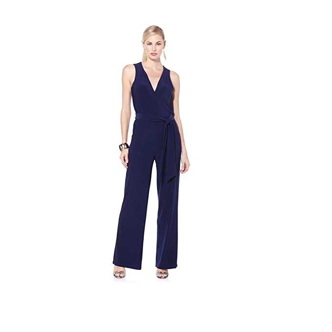 c35bc755b8 Amazon.com  Nikki By Nikki Poulos Women s Plus   Petite Size Sleeveless  Wide Leg Jumpsuits  Clothing