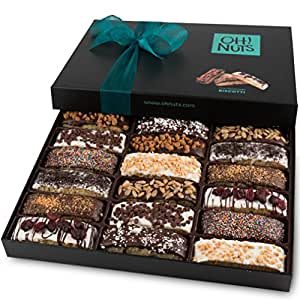 Amazon Oh Nuts Chocolate Biscotti Gift Basket 18 Gourmet