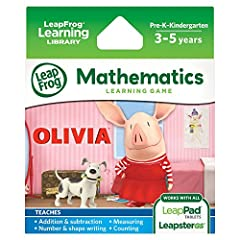 Join Olivia as her big dreams lead her through another busy day! Explore her world and daily routines as you play 4 math mini-games all about Olivia! Gameplay is geared toward kids ages 3-5 years old (pre-k to k), and the cartridge is compati...