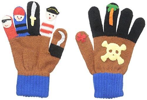 Crew Kids Glove (Kidorable Little Boys' Pirate Gloves, Brown, Medium)