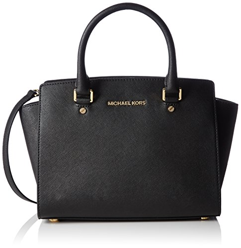 MICHAEL Michael Kors Selma Satchel, Black, Medium