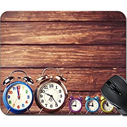 MSD Natural Rubber Mousepad Mouse Pads/Mat design: 31106729 Retro clocks on a table Photo in retro color image style