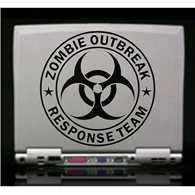 www.tdcdecals.com Zombie Outbreak Response Team Black Die-Cut Vinyl Decal Sticker: Automotive