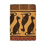 THUNANA Cute Cat Africa Pattern Travel PU Leather Passport Holder Case Cover For Women Men Kids