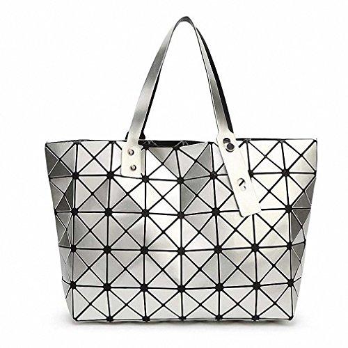 NEW Fashion Bao Bao Bag Women Tote Fold summer issey miyak Baobao Hand Bag Laser Geometric Designer Handbags TN141 Silver