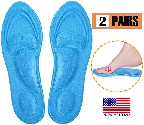 Silicone Slim Insoles, Set B Insoles To Improve Shoes Too Big For Womens High Heel Slim Inserts Insoles Liners For Blister Prevention Gel Heel Pain Relief 2 Pairs Back Heel Pads Shoes