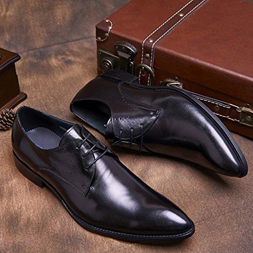 Oxford En émaillé Soirée Chaussures Derby Real De Hommes D'affaires Hommes Ups Gentleman Pour Lace Mariage En Black Formal Derby Chaussures Cuir MERRYHE Shoe Travail De Cuir IwExzBBaq