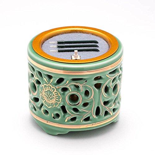 仏具 サンやすらぎ寝かせ 透かし香炉(青磁/2.5寸) B015MDMU20