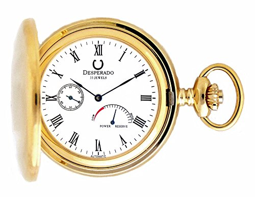 Desperado 530G Automatic Pocket Watch with Power Reserve Indicator 33 Jewels (Power Reserve Indicator)