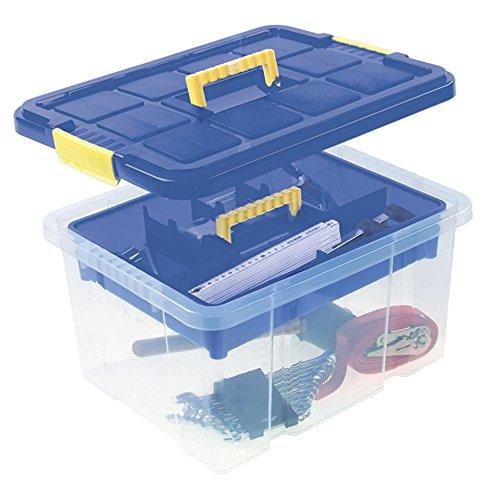Universalbox mit Deckel und Einlegefach Werkzeugbox Werkzeugkiste Aufbewahrungskiste Unibox Universalkiste