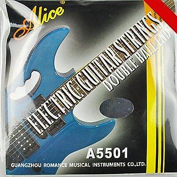 alice - (a5501) de acero inoxidable cuerdas de la guitarra eléctrica (010-046): Amazon.es: Deportes y aire libre
