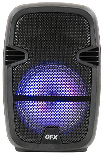 QFX PBX-85 8″ Portable Bluetooth Party Speaker with Microphone