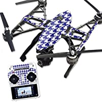 Skin For Yuneec Q500 & Q500+ Drone – Blue Houndstooth | MightySkins Protective, Durable, and Unique Vinyl Decal wrap cover | Easy To Apply, Remove, and Change Styles | Made in the USA
