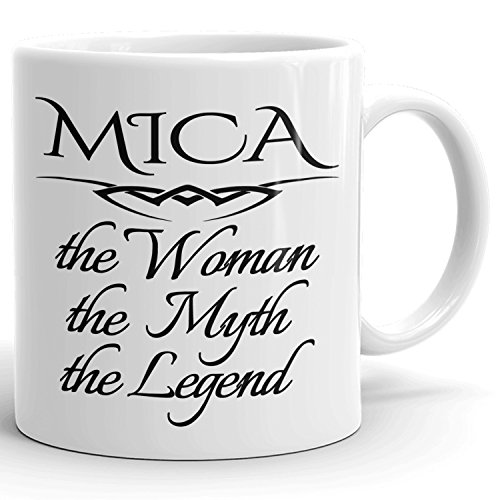 Best Personalized Womens Gift! The Woman the Myth the Legend - Coffee Mug Cup for Mom Girlfriend Wife Grandma Sister in the Morning or the Office - M Set 6