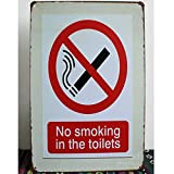 INNAPER No Smoking in The Toilets Sign 8x12 Rust Free UV Printed Easy to Mount Weather Resistant Long Lasting