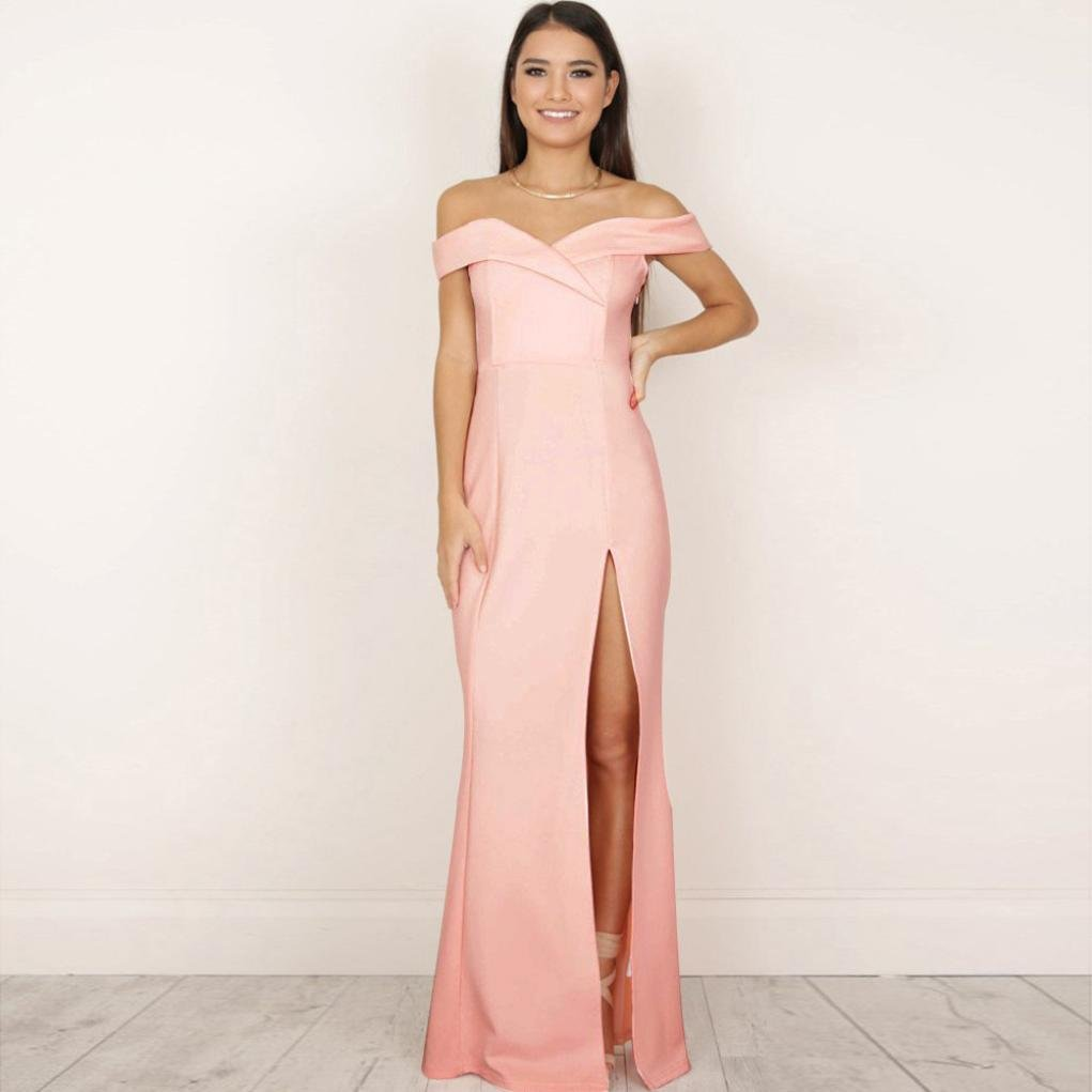 513074fde99d Amazon.com: Clearance ! Women Dress, ღ Ninasill ღ Formal Long Ball Gown  Party Prom Bridesmaid Evening Maxi Dress Skirt Blouse Tops Tank (M, Pink):  Beauty