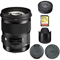 Sigma 50mm f/1.4 DG HSM Lens for Canon EF Cameras (311101) with Sigma USB Dock for Canon Lens & Lexar 32GB Professional 1000x SDHC Class 10 UHS-II Memory Card