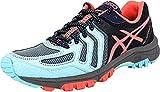 ASICS Women's Gel-FujiAttack 5 Trail Runner, Aqua Splash/Diva Pink/Indigo Blue, 5.5 M US