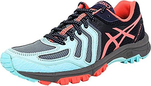 ASICS Women's Gel-FujiAttack 5 Trail Runner, Aqua Splash/Diva Pink/Indigo Blue, 9.5 M US